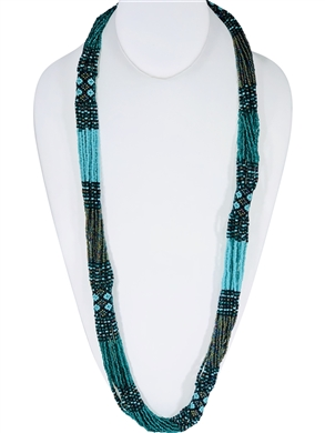Necklace - Rope Emerald/Seafoam/Olive Iridescent