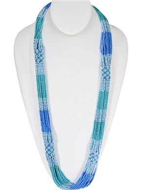 Lucia Necklace - Periwinkle/Seafoam/Cream