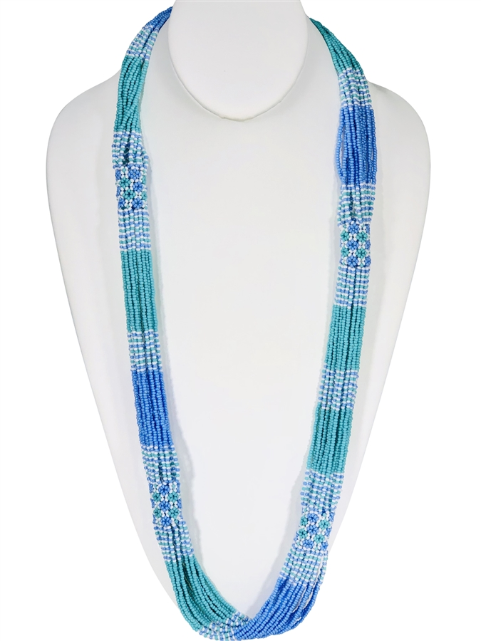 Necklace Rope- Periwinkle/Seafoam/Cream