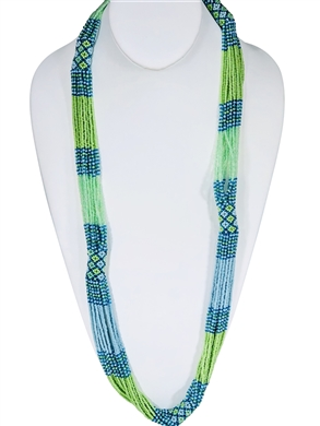 Lucia Necklace - Turquoise/Mint Green soft blue