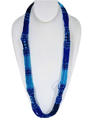 Lucia Necklace - Periwinkle/Sky Blue/Iridescent Blue