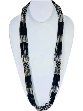 Lucia Necklace - Black/Silver