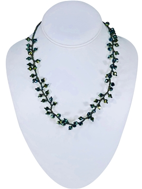 Ana Necklace - Green Peacock