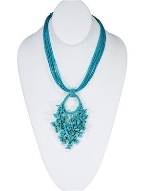 Boutique: Raiz Necklace - Turquoise