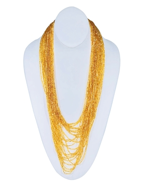 Necklace - Tanya Cascade 24 Strand Gold