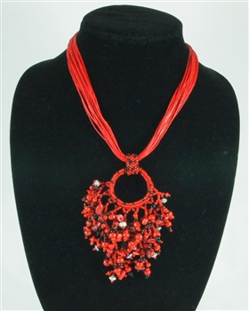 Boutieque: Raiz Necklace - Red Black