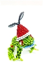 Ornament - Frog with Santa Hat
