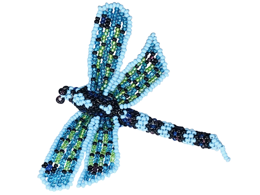 Pin - Dragonfly Blue/Orange/Yellow