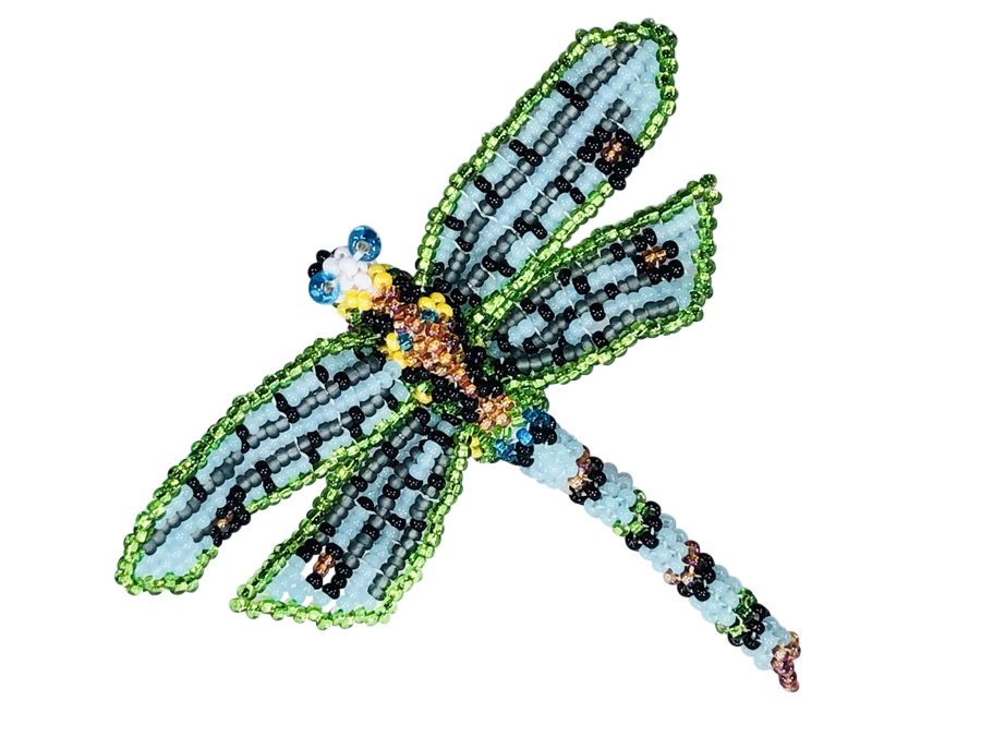 Pin - Dragonfly Light Blue/Lime