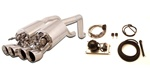 FCOR-0463 - Billy Boat Exhaust 2005 - 2008 C6 Fusion w/B&B Control Kit Quad Round