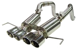 "FCOR-0615 2014-C7 QUAD 4"" DOUBLE WALL ROUND TIPS Bullet Exhaust System"