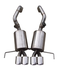 "FCOR-0620 2014-C7 PRT QUAD 4.5"" DOUBLE WALL OVAL TIPS Bullet Exhaust System"