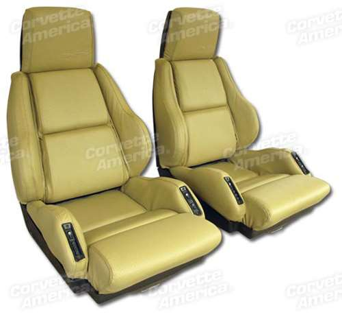 1995 Chevrolet Corvette Interior: 1-420572 84-87 Corvette Leather Seat Covers. Saddle Sport