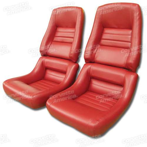 1 422724 79 81 Mounted Leather Like Seat Covers Red 4