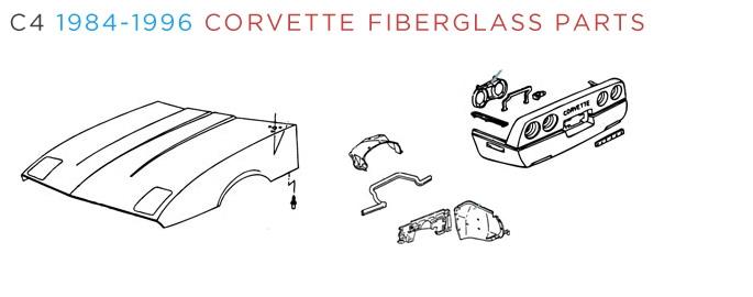 C4 Corvette Fiberglass Body Parts