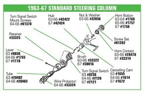 Corvette    Parts C2 1963 1967 Standart Steering Coumn