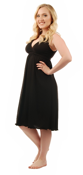 1023 Amamante Signature Amamante Little Black Dress Nursing Gown
