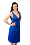 Amamante Signature Nursing Gown in Azure Blue