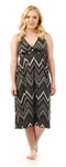 Amamante Chevron Print Nursing Nightgown