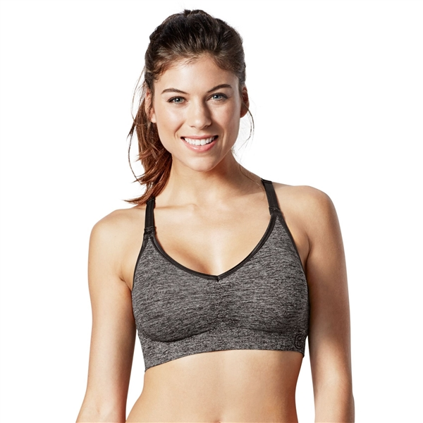 Bravado Body Silk Seamless Yoga Bra - Charcoal Heather