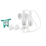 Ameda Dual HygieniKit with One Hand Breast Pump Plus Flexishields