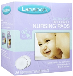 Lansinoh Ultra Soft Disposable Nursing Pads 36 Count