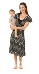 Amamante Lux Jewel Nursing Gown - Black Diamond