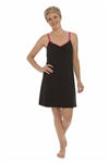 QT Intimates Black Chemise Nursing Gown
