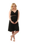 Amamante Belleza Nursing Nightgown in Black