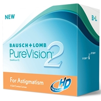 Purevision 2HD for Astigmatism Contacts 6 pack
