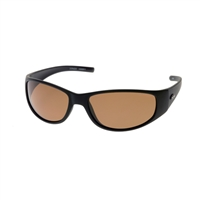 Fish Dorado Sunglasses: Black With Orange Brown Lenses
