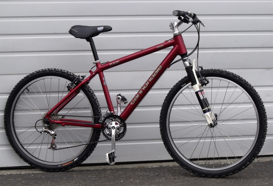 16 Cannondale F500 Usa Made Aluminum Rock Shox 27 Speed Mountain