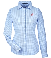 DEVON & JONES® CROWNLUX PERFORMANCE™ LADIES' MICRO WINDOWPANE SHIRT