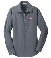 LADIES' LONG SLEEVE PORT AUTHORITY® SUPERPRO™ OXFORD SHIRT