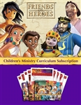 Friends and Heroes Series Children's Ministry Curriculum Subscription
