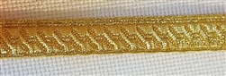 13mm Gold colored B&S Lace/Mylar bias braid