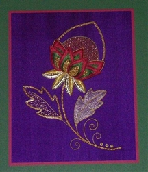 Alison Cole Embroidery -Jacoben Flower