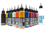 Solid Tattoo Ink - 12 Color Spectrum Set (1 oz)