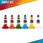 World Famous Tattoo Ink - Simple Color Set (1 oz)