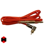 8ft Silicone Right Angle RCA Cord (Red)