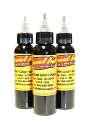Eternal Gray Wash Tattoo Ink 2 Ounce Set