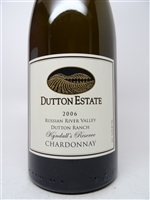 Dutton Estate. Russian River Valley Chardonnay 'Kyndall's Reserve' 2006 750ml