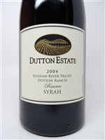 Dutton Estate. Russian River Valley Syrah Reserve 2004 750ml
