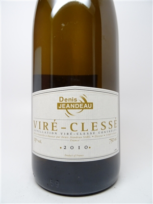 Jeandeau. Vire Clesse 2010 750ml
