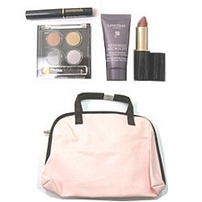 Lancome Travel Makeup Set Renergie Microlift + Eye Shadow + Lipstick + Mascara 5 pc:  Eye Shadow + Lipstick + Mascara + Renergie Microlift + Travel Bag