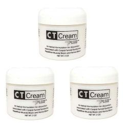CT Cream Carpal Tunnel Cream for Pain Relief - Value 3pc pack - Carpal Tunnel Syndrome, Arthritis, Tendonitis, Bursitis 2 oz x 3 pcs super value