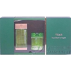 Tsar by Van Cleef & Arpels for Men 2 Piece Set 3.3 oz Eau De Toilette Spray + 3.3 oz All Over Body Shampoo 2 Piece Gift Set 3.3 oz EDT Spray + 3.3 oz All Over Body Shampoo