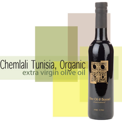 Bottle of Chemlali Tunisia- Organic Extra Virgin Olive Oil