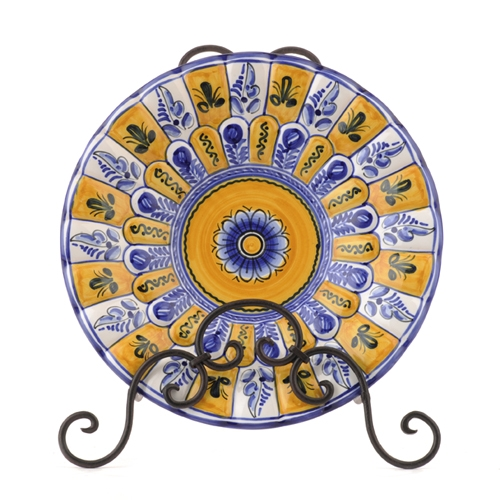 """Peacock"" Plate from Spain- Fiesta Yellow"