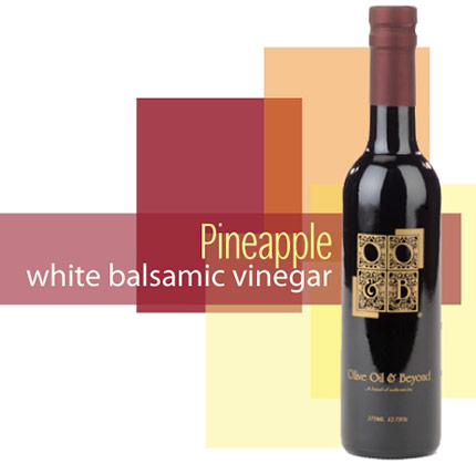 Bottle of Pineapple White Balsamic Vinegar